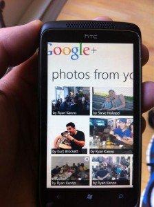 Posible Google+ para windows phone
