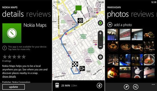 Nokia Maps para Windows Phone
