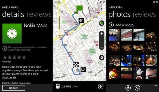 Nokia Maps para Windows Phone