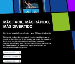 Nokia Lumia 800 en España