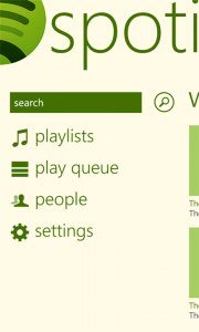 spotify para Windows Phone Captura 1