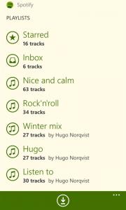 spotify para Windows Phone Captura 2