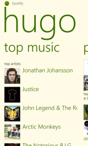 spotify para Windows Phone Captura 4