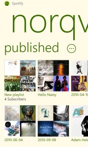 spotify para Windows Phone Captura 5