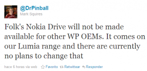 twitter no nokia drive