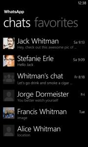 WhatsApp se actualiza con chat de grupo