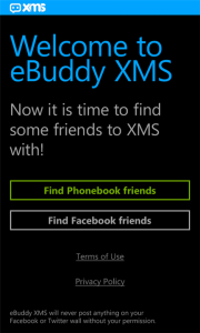 eBuddy XMS para Windows Phone ya disponible