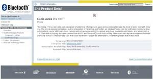 Lumia 719 BT Cert
