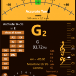 Accurate Tuner Pro, afinador musical en WP