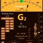 Accurate Tuner Pro, afinador musical en WP
