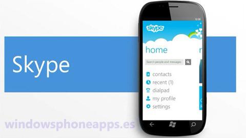 skype windows phone 7