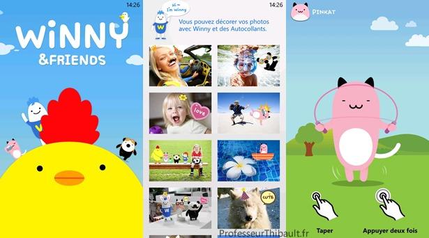 winny and friends app lg wp7