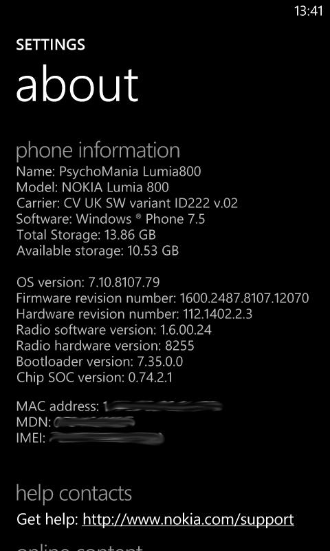 Actualiza tu Nokia Lumia 800 a 12070