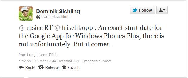 google plus windows phone