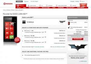 Lumia 900 en Rogers