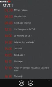 Parrilla TV, programación de televisión al día