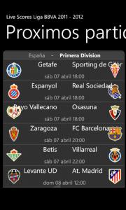 livescores Liga BBVA 2011-2012 8