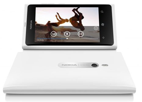 Lumia white video screen