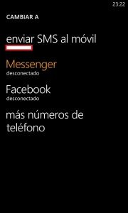 Enviar mensajes a usuario desconectado en Facebook o Messenger con Windows Phone