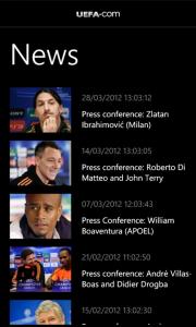 Euro 2012 Aplicación oficial de la Eurocopa 2012