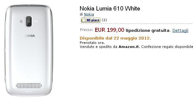 lumia 610 italia