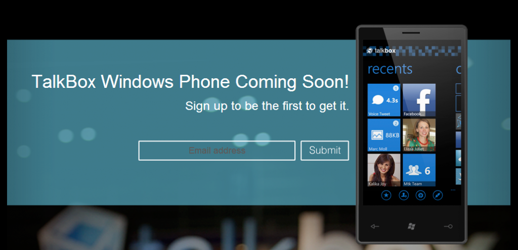 Talkbox para Windows Phone