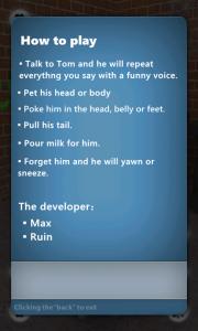 Talking Tom Cat para Windows Phone ya en el Marketplace