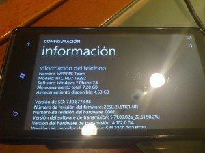 HTC HD7 con tango