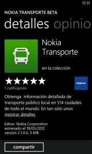 Nokia Transporte Beta