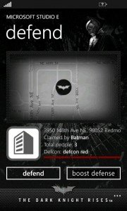 The Dark Knight Rises aplicación oficial en exclusiva para los Nokia Lumia 5