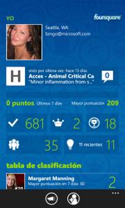 Foursquare para Windows Phone se actualiza a la versión 2.11
