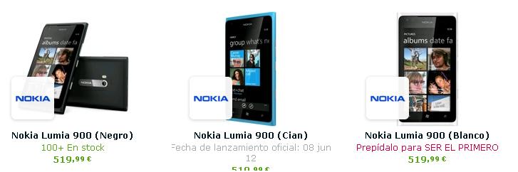 Lumia 900 en España