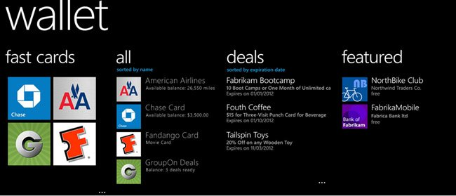 wallet windows phone 8