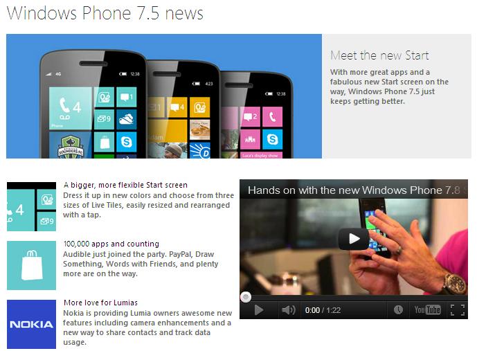 windows phone 7.8 news