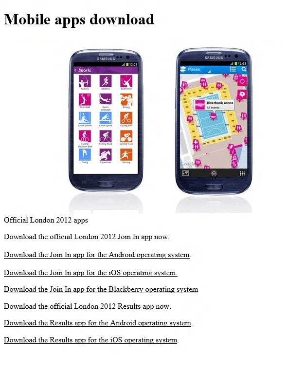 App Oficial de las Olimpiadas 2012 ya en el Marketplace