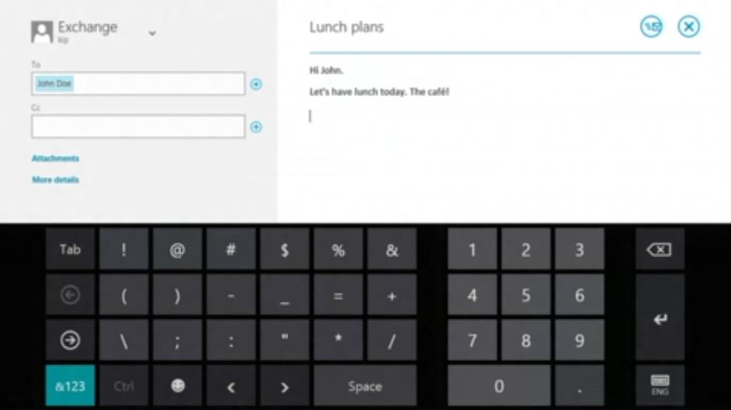Nuevo teclado táctil para Windows 8