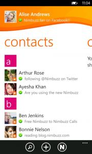 Nimbuzz nueva aplicación de mensajería para WP