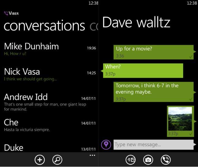 viber para Windows Phone