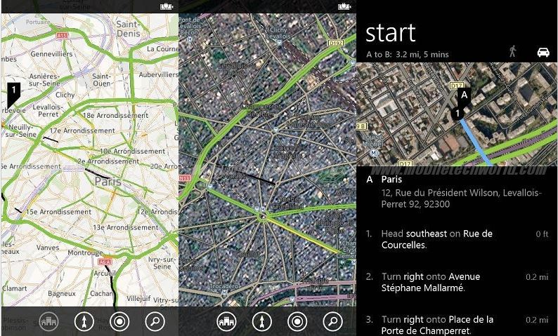 Capturas de Nokia Maps en Windows Phone 8