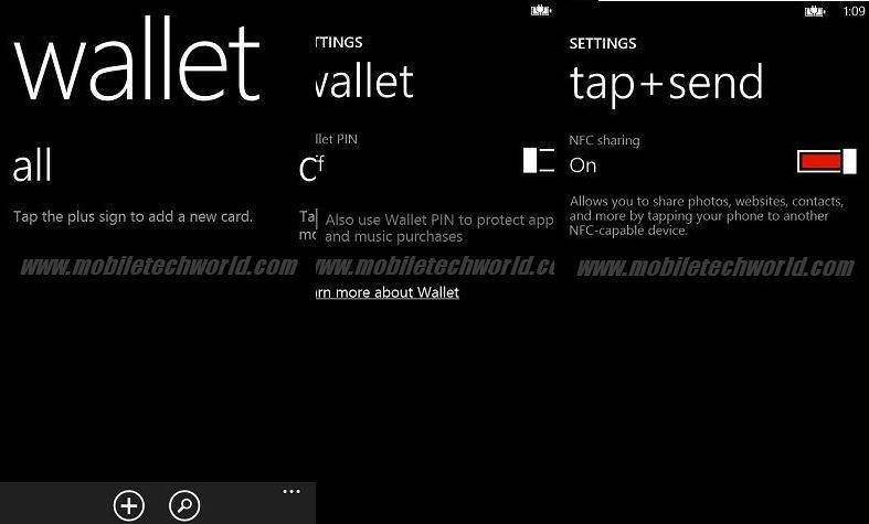 Captura de la Aplicación Wallet