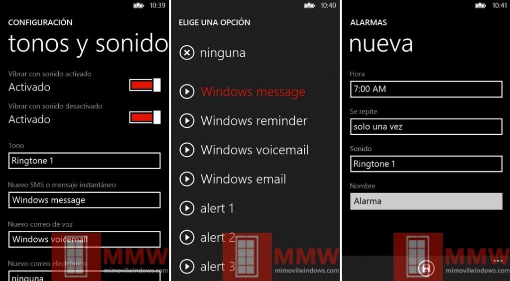 ¿Permitirá Windows Phone 8 personalizar los tonos de aviso?