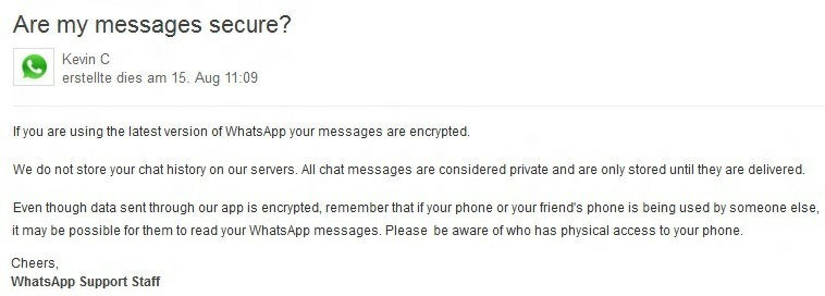 whapsapp encriptado de mensajes