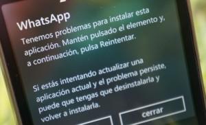 windows phone problema instalar app