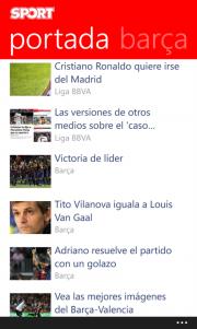 Diario Sport ya cuenta con una aplicación oficial para WP