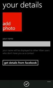 Viber 2.2 Your details