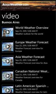 AccuWeather.com otra App exclusiva Nokia