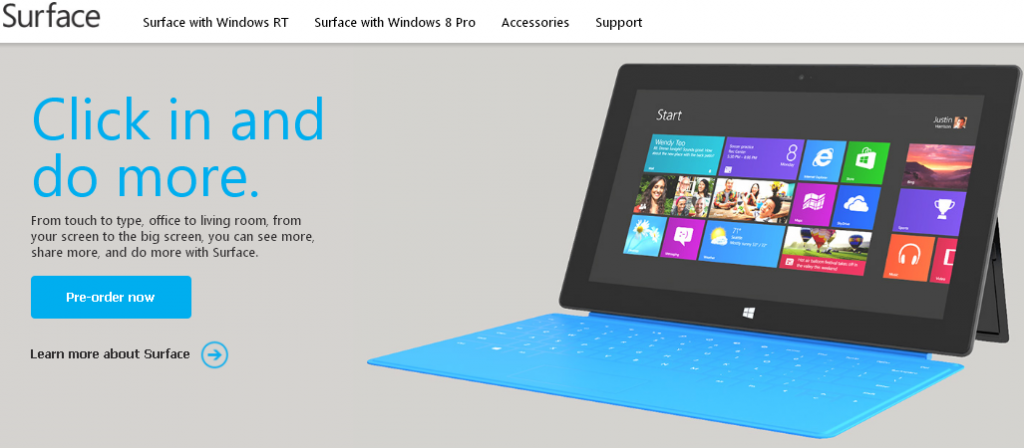 surface preorder