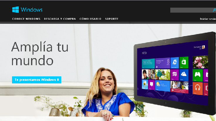 Microsoft renueva su pagina Windows
