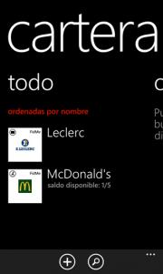 """FidMe la primera aplicación en usar """"Cartera"""" de WP8"""