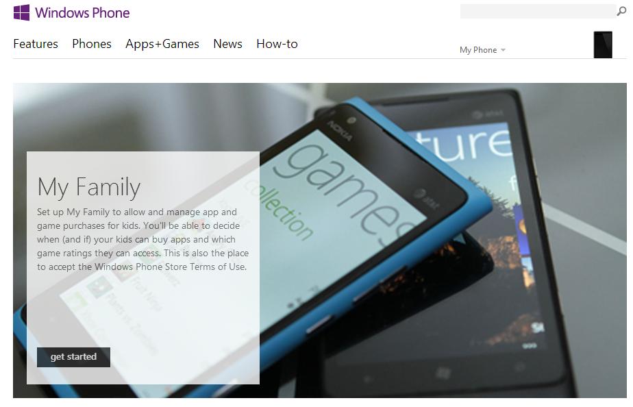 Mi familia, Tienda Windows Phone